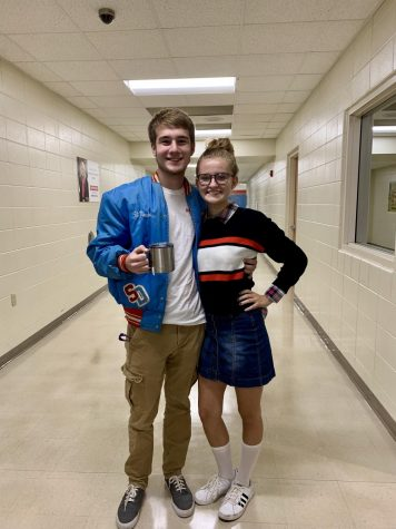 Dale Swanson and Abigail Neubauer matching for Prep Day