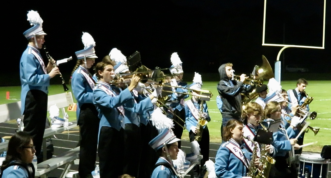 The Southern Door Band plays the school song during Friday's Homecoming game.